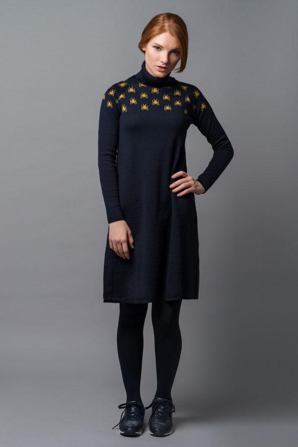Vestido Mosca 3 - AW1819 Bichos - Azul Marino Casi Negro