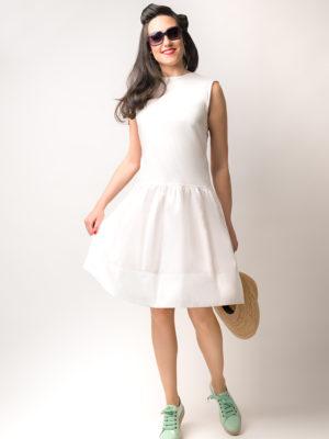 Vestido Hormiga Blanco 2 - SS Spring Bichos - Azul Marino Casi Negro