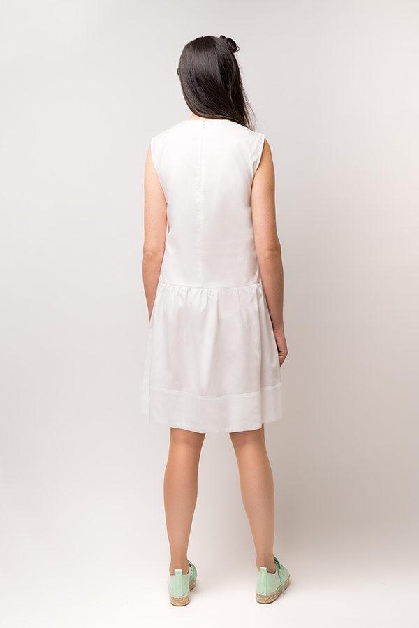 Vestido Hormiga Blanco 1 - SS19 Spring Bichos - Azul Marino Casi Negro