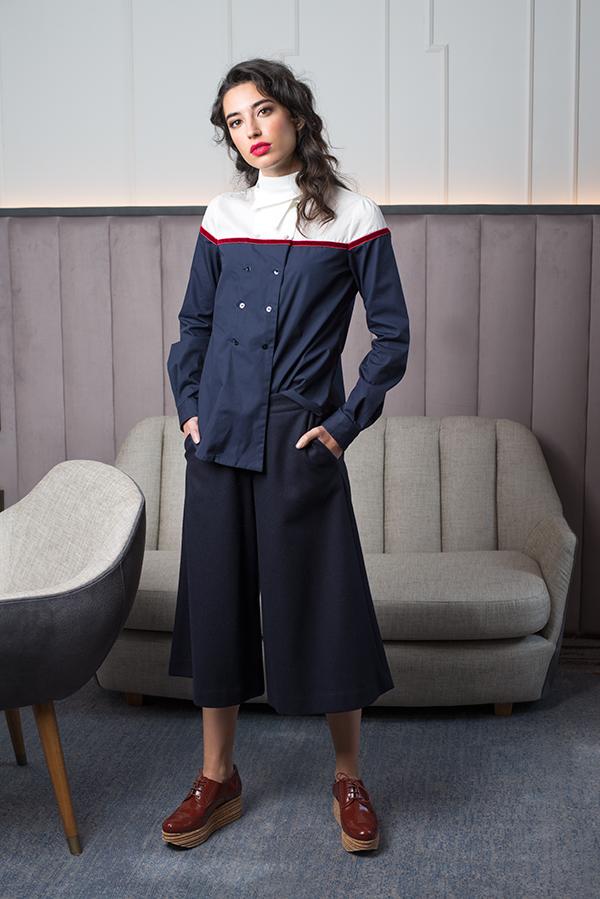 Camisa Chambra azul Pantalón pañero - Azul Marino Casi Negro