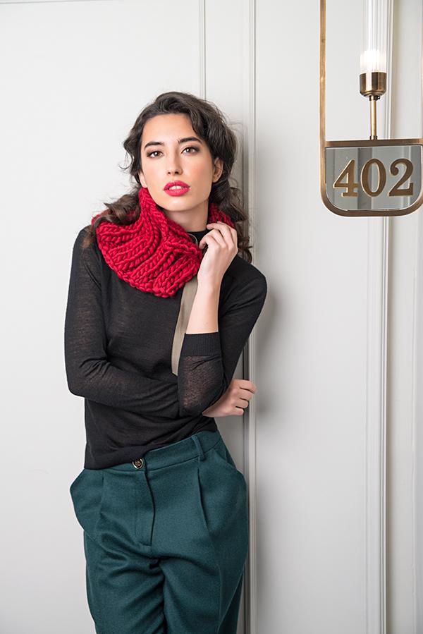 Pantalón alzapón Cuello lana peruana - Azul Marino Casi Negro