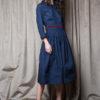 Vestido Montehermoso Azul 2 - AW1920 Folk - Azul Marino Casi Negro